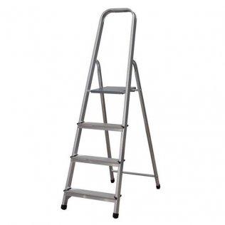 Escalera de aluminio 4 peldaños 89 cm