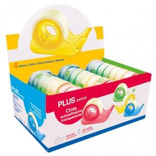 Cinta adhesiva con miniportarrollos de colores Plus Office
