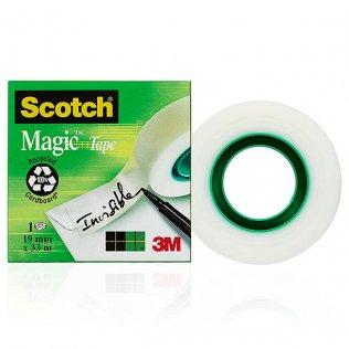 Cinta adhesiva invisible 19mmx33m Scotch Magic 3M