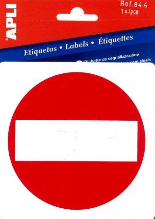 APLI 844-Etiqueta señalización prohibido el paso