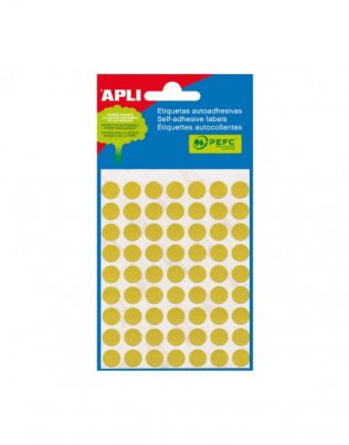 APLI 2051 - Etiquetas amarillas (Ø 10) 5 hojas