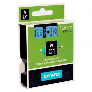 Cinta Dymo D1 9mm x 7m Negro/Azul