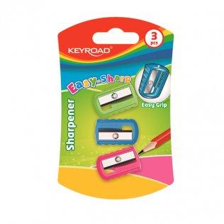 Afilalápiz KeyRoad Easy-Sharp / 3 unid