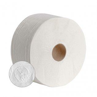 Papel higiénico industrial Jumbo 2 capas 140m 18 unid