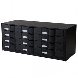Clasificador horizontal negro 12 cajones Paperflow
