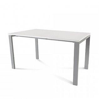 Mesa Rocada Total 140x80cm Aluminio/Blanco