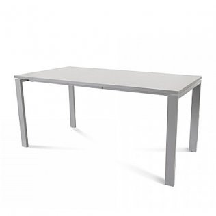 Mesa Rocada Total 160x80cm Aluminio/Gris
