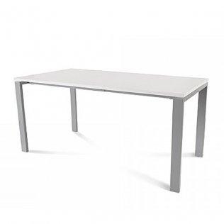 Mesa Rocada Total 160x80cm Aluminio/Blanco