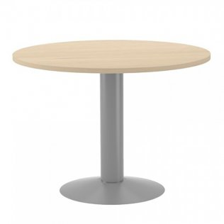 Mesa Meeting redonda Rocada 120x72cm Aluminio/Haya