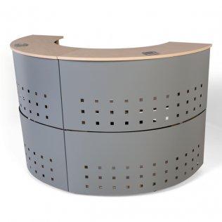 Módulo circular 90º Rocada 38x106x125cm Aluminio/Haya