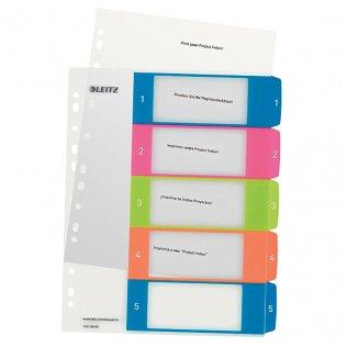 Indice imprimible Leitz WOW A4 maxi 5 separadores