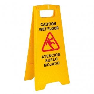 Señal Atención suelo mojado