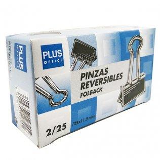 Pinzas sujetapapeles reversibles Nº25 / 10mm Plus Office