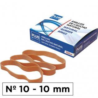 Bandas elásticas Nº10 Plus Office 100x10mm caja 100gr