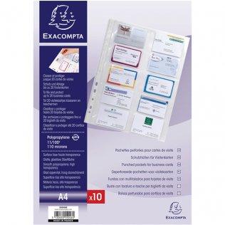 Funda para tarjetas Exacompta 10 tarjetas