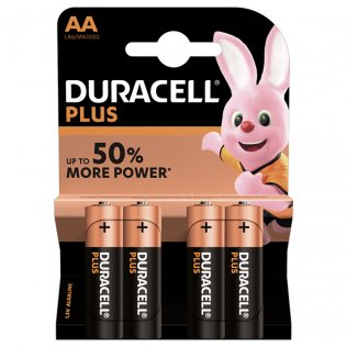 PILAS DURACELL PLUS AA/BL.4UD