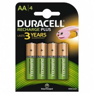 Pilas Duracell recargables Plus AA / blíster 4 ud