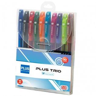 Bolígrafo Plus Trio Blíster 10 ud Surtidos