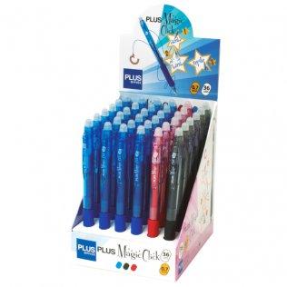 Bolígrafo Borrable Plus Magic Click Expositor 36 ud
