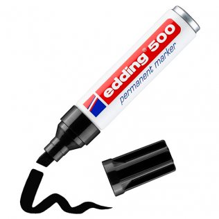 Rotulador Permanente edding 500 Negro 2-7 mm