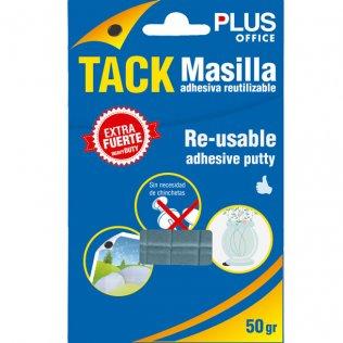 Masilla adhesiva Tack extrafuerte 50 gramos Plus Office