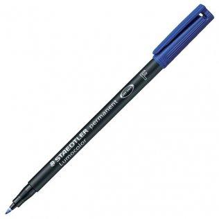 Rotulador Permanente Staedtler Azul Lumocolor F 0,6 mm