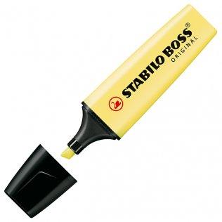 Marcador Fluorescente Stabilo Boss Original Amarillo Pastel