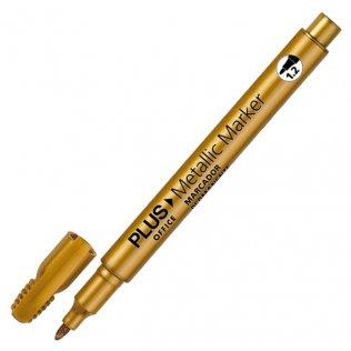 Marcador Plus Office Metallic Marker Oro 1,2 mm