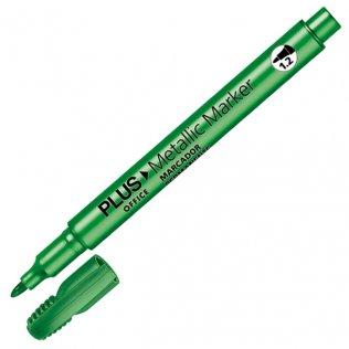 Marcador Plus Office Metallic Marker Verde 1,2 mm