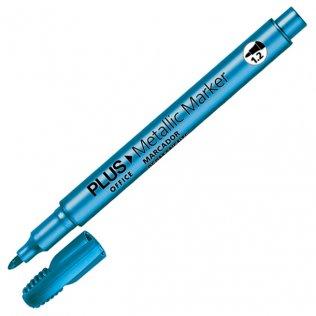Marcador Plus Office Metallic Marker Azul 1,2 mm