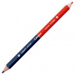 Lápiz bicolor Jumbo Azul/Rojo Campus University mina 5mm