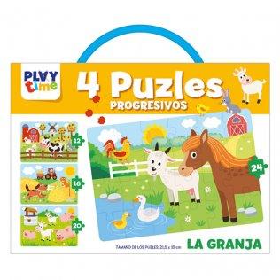 Libreta Educativa Playtime Puzzle Progresivo La Granja
