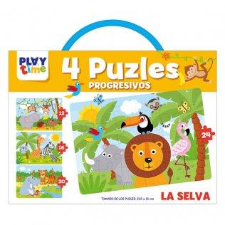 Libreta Educativa Playtime Puzzles Progresivos La Selva
