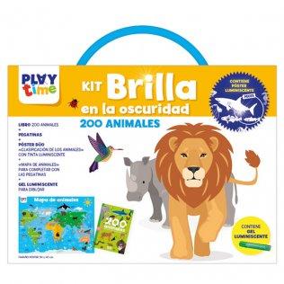 Libreta Educativa Playtime Kit brilla oscuridad 200 animales