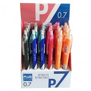 Portaminas Plus Office P7 0,7 mm Expositor 24 ud