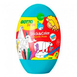 Stick & Color Giotto Bebe Egg 9 uds