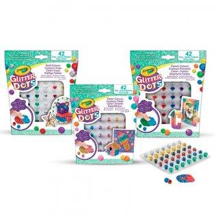 Juego educativo Crayola Glitter Dots surtido básico 3 colores