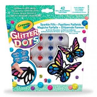 Juego educativo Crayola Glitter Dots mosaicos mariposas 3D