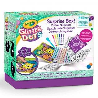 Juego educativo Crayola Glitter Dots caja sorpresa