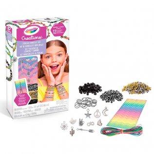 Juego educativo Crayola Creations set pulseras de cuentas y charms