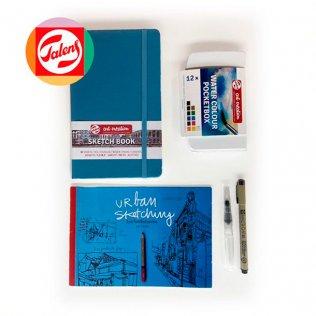 Set Urban Sketching Talens azul
