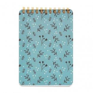 Bloc Espiral Miquelrius Liso Azul Floral