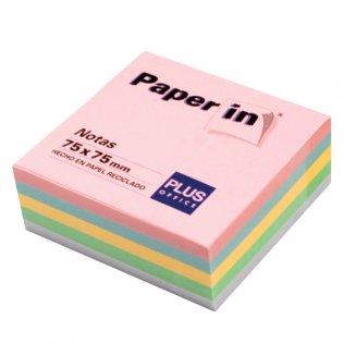 Bloc notas adhesivas pastel 75x75mm 300 hojas Paper In Plus Office