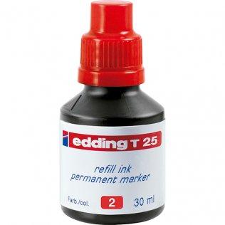 Tinta Rotulador edding T-25 Rojo 30 ml