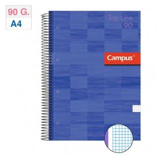 Bloc espiral Campus A4 tapa extradura 90g 80h Violeta cuadrícula 5mm