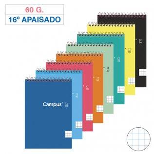 Bloc espiral Campus 16º Apaisado tapa básica 60g 80h cuadrícula 4mm