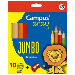 Lápices de colores Campus College Jumbo 10 colores