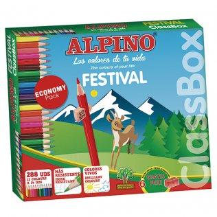 Lápices Alpino Pack Escolar 288 unidades 12 colores