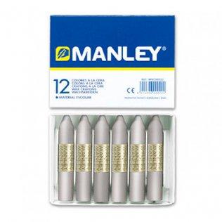 Ceras Manley plata 12 unid