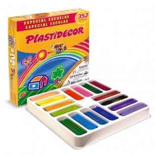 Lápices de cera Plastidecor Pack Escolar 352 unid 16 colores